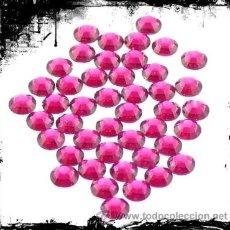 Artesanía: LOTE DE 100 HOTFIX DE SWAROVSKI DE 3MM. COLOR ROSA. Lote 34941100