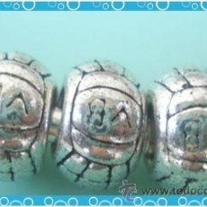 Artesanía: LOTE DE 3 ABALORIOS PLATA PARA PULSERA EUROPEA, PANDORA, CHEMILIA, ETC.... Lote 26873492