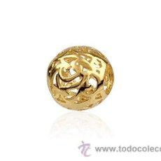 Artesanía: ABALORIO PARA PULSERA PANDORA PLATA DE LEY 925 DORADO. Lote 215878660