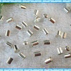 Artesanía: LOTE DE ABALORIOS 40 FINALES PLATA PARA CORDONES O CADENAS. Lote 30326039
