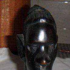 Artesanía: CABEZA DE MUJER TALLADA A MANO MADERA NOBLE PROCEDENTE DE ETIOPIA. Lote 48924864