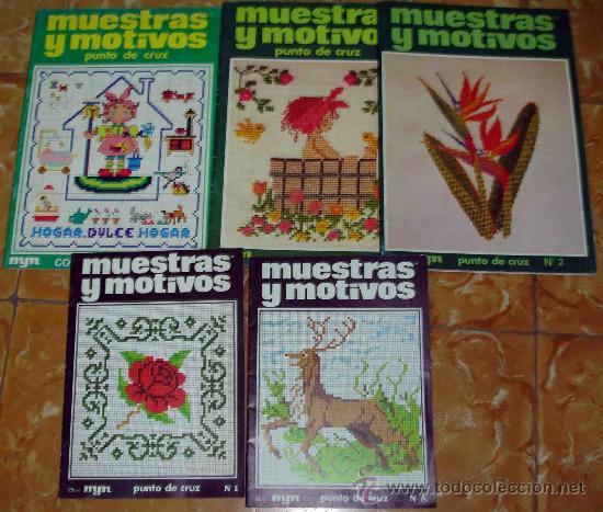 Muestras y motivos punto de cruz 5 revistas comprar - Muestras y motivos punto de cruz ...