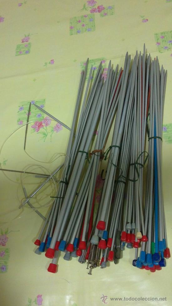 AGUJAS PARA TRICOTAR,HACER PUNTO,88 UNIDADES (Artesanía - otros articulos hechos a mano)