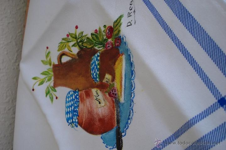 PAÑO DE COCINA PINTADO A MANO (Artesanía - otros articulos hechos a mano)