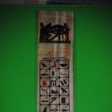 Artesanía: PRECIOSO ALFABET JEROGLÍFICO EGIPCIO EN PAPIRO ORIGINAL.. Lote 40140753