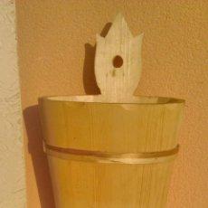 Artesanía: PRECIOSO PARAGUERO DE MADERA NATURAL HECHO A MANO.. Lote 43860625