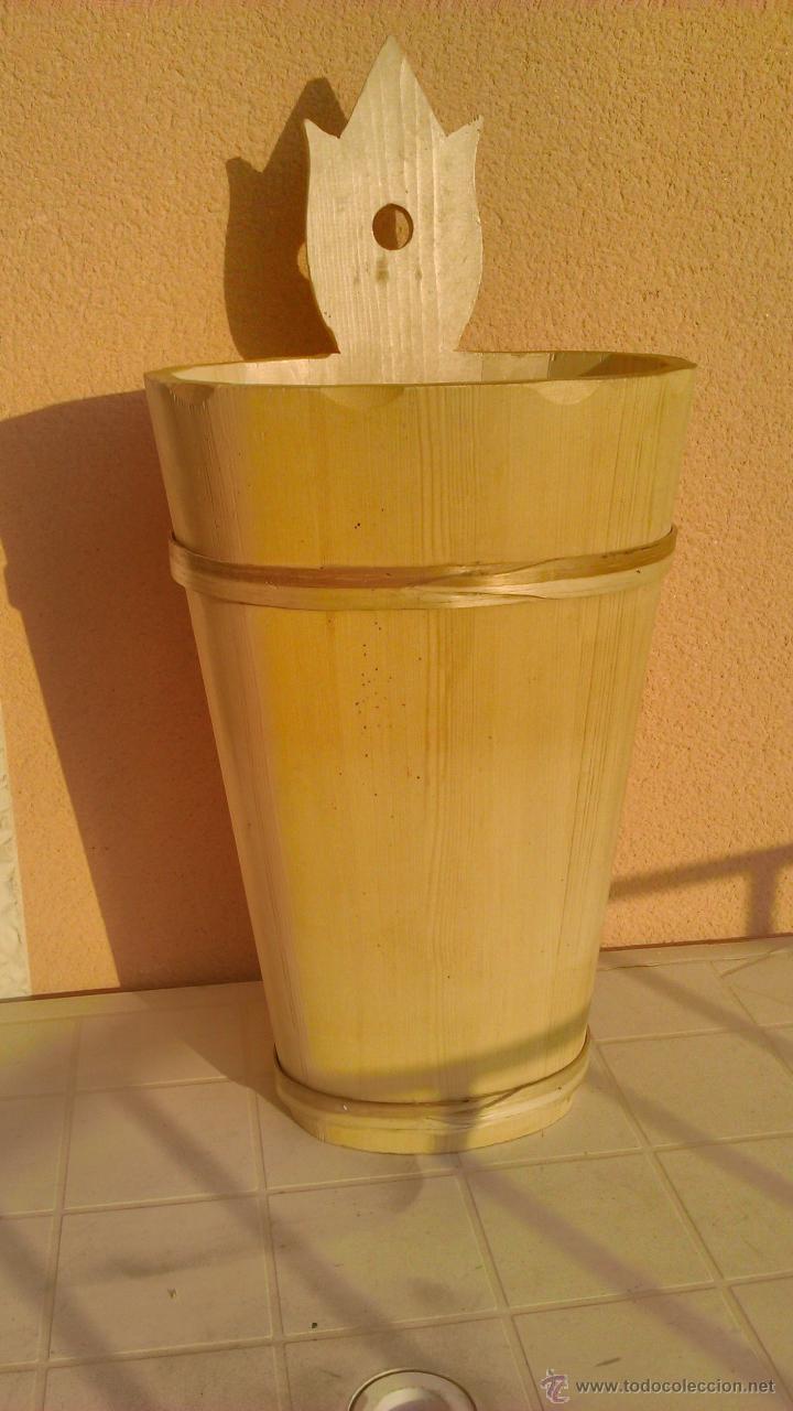 Artesanía: Precioso paraguero de madera natural hecho a mano. - Foto 2 - 43860625