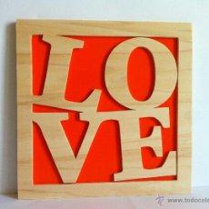 Artesanía: LOVE CUADRO DE MADERA. Lote 147686596