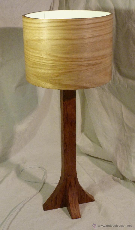 LAMPARA BUBINGA (Artesanía - otros articulos hechos a mano)