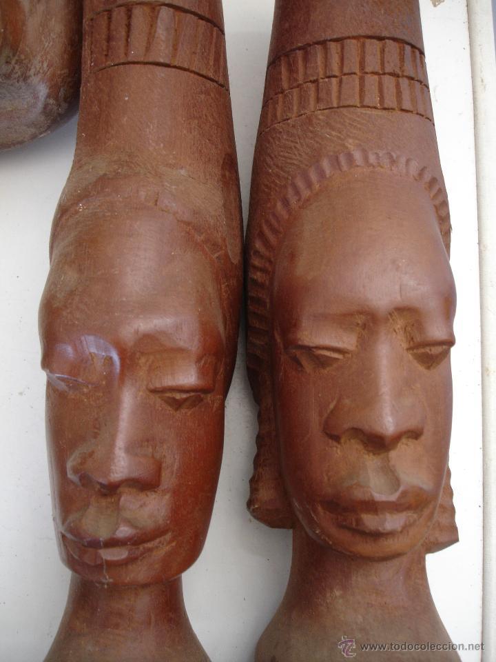 PAREJA AFRICANA DE MADERA (Artesanía - otros articulos hechos a mano)
