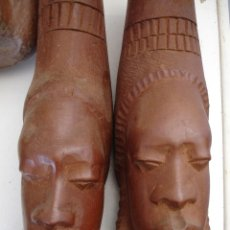 Artesanía: PAREJA AFRICANA DE MADERA. Lote 43929975