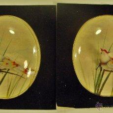 Artesanía: 2 PAJAROS HECHOS A MANO EN HONG-KONG POR ARTESANOS (LABORATORIOS DAVUR). Lote 44049327