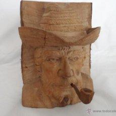 Artesanía: BUSTO DE MADERA ECUATORIANO. Lote 44067174