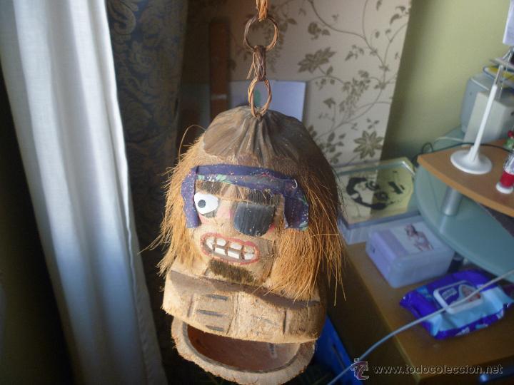 Artesanía: figura pirata coco tallado a mano - Foto 2 - 45148995