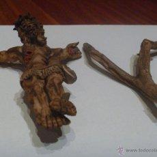 Artesanía: CRISTO CRUCIFICADO BARRO COCIDO LATINOAMÉRICA UNICO EN TODOCOLECCION. Lote 45358235