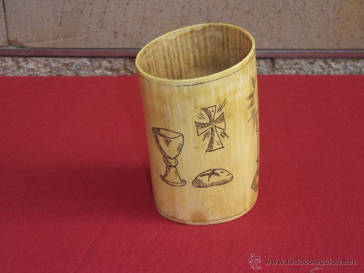 Artesanía: vaso de marfil - Foto 4 - 45542877