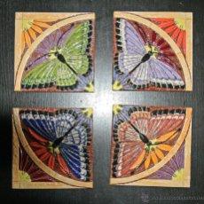 Artesanía: 4 AZULEJOS DECORADOS. Lote 45848623