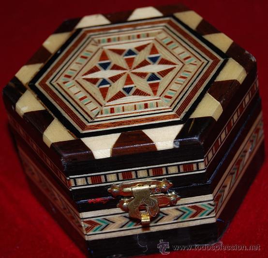 CAJA DE TARACEA HEXAGONAL (Artesanía - otros articulos hechos a mano)