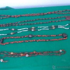 Artesanía: LOTE DE COLLARES AFRICANOS DE SEMILLAS. Lote 49727204