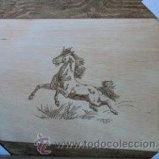 Artesanía: CUADRO DE CABALLO (PIROGRABADO). Lote 50085462