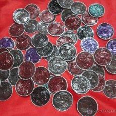 Artesanía: LOTE 50 CAPSULAS CHAFADAS (PLANAS) DE NESPRESSO COLORES VARIADOS PARA HACER MANUALIDADES BISUTERIA. Lote 51177512