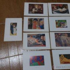 Artesanía: 9 LAMINAS PINTURAS DE COLECCION. Lote 51487136