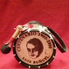 Artesanía: BOMBO ARTICULO RECORDATORIO / CENTENARIO 1900-2000 LUIS BUÑUEL #0955. Lote 53478584