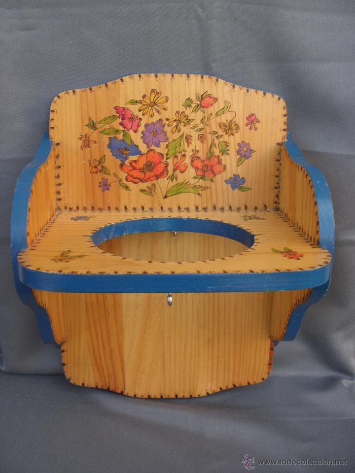 Artesanía: Decoración vintage Soporte madera para colgar bolsa del pan en cocina , panera colgante pirograbada - Foto 2 - 53843051