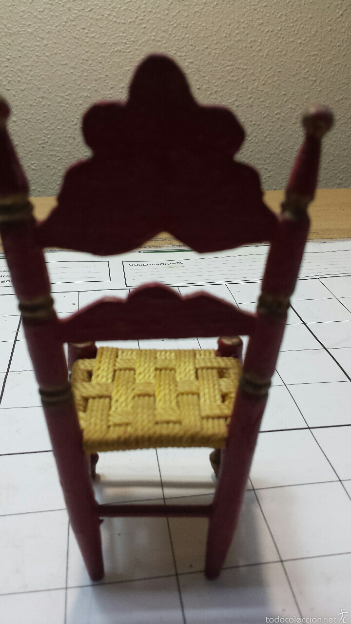 Artesanía: Antigua silla en miniatura - Foto 4 - 55145540
