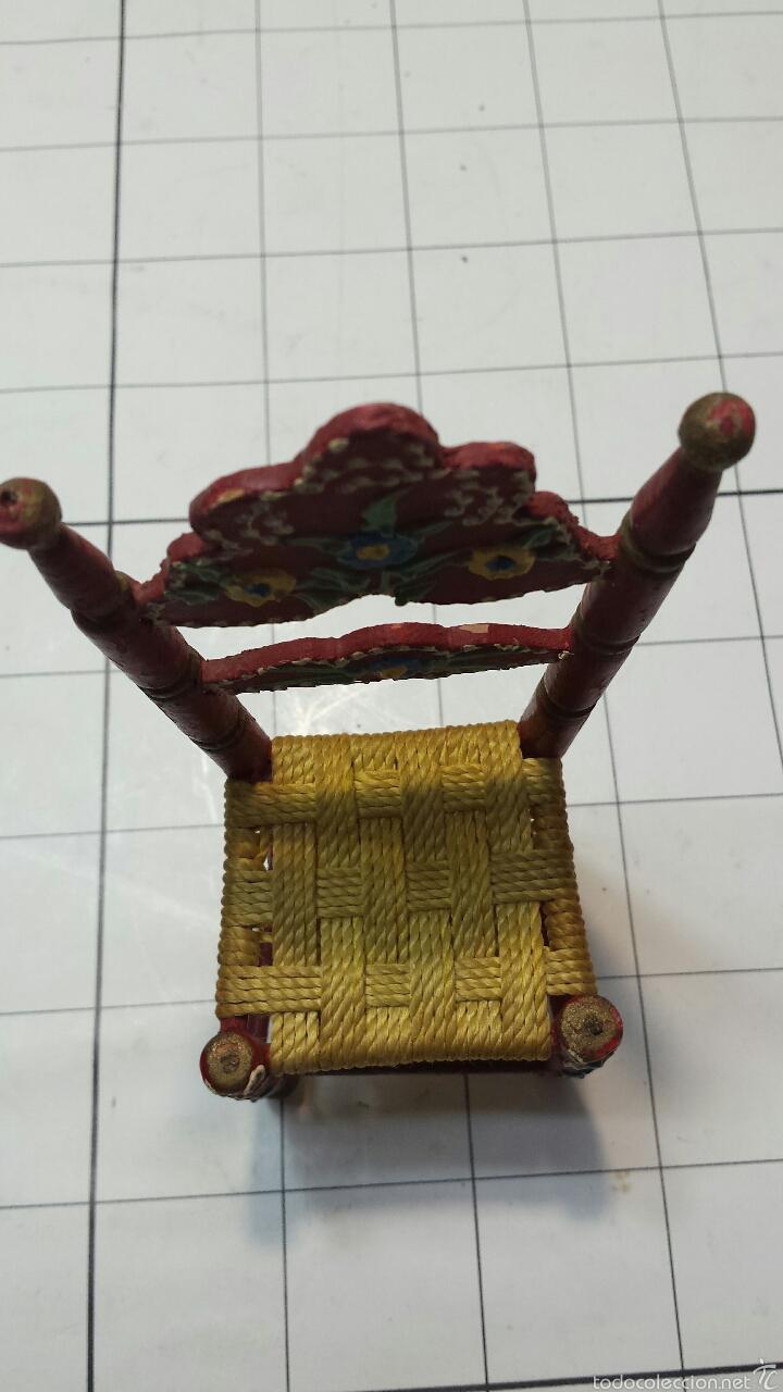 Artesanía: Antigua silla en miniatura - Foto 6 - 55145540