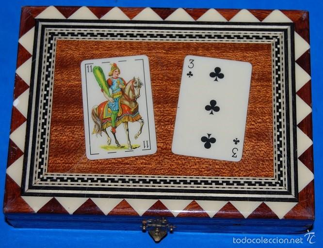 CAJA DE TARACEA GRANADINA PARA NAIPES-01 (Artesanía - otros articulos hechos a mano)