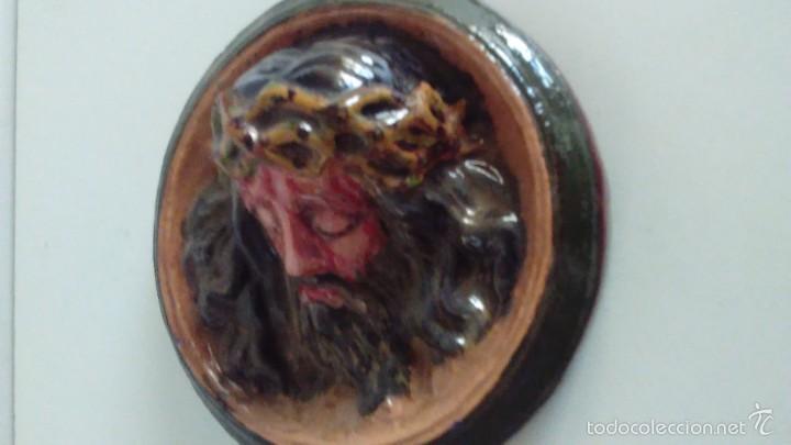 Artesanía: Cabeza de Cristo en relieve pintada a mano - Foto 5 - 57150524