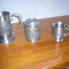 Kunsthandwerk - Juego de 3 piezas de acero fabricadas en Tahilandia con muy bonitos grabados - 58071716