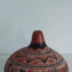 Artesanía: CALABAZA DECORADA CON MOTIVOS INCAS. Lote 58113313