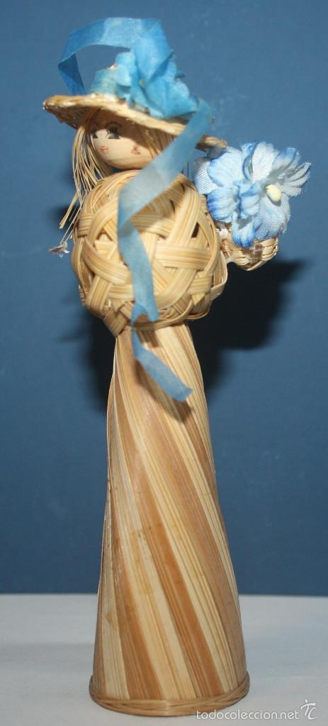 Artesanía: Bonita Muñeca de mimbre - Foto 2 - 58340631