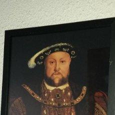 Artesanía: LAMINA ENMARCADA DE REPRODUCCIÓN DE - LUCAS HORENBOUT - ENRIQUE VIII - 1526.. Lote 58429130