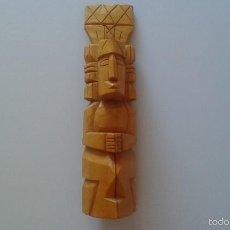 Artesanía: TALLA EN MADERA -- 39 ALTURA X 10 BASE --. Lote 58527350