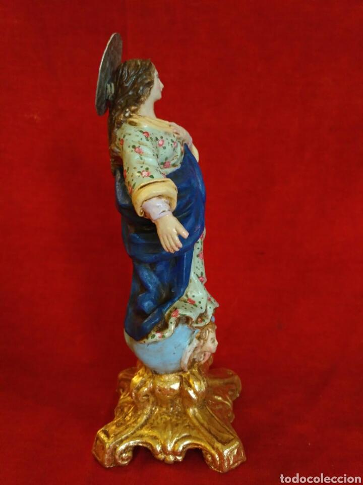 Artesanía: Inmaculada de barro pintado a mano (nuevo) - Foto 2 - 76483201