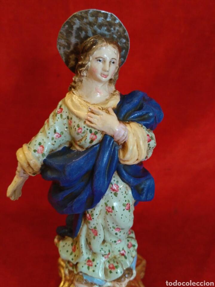 Artesanía: Inmaculada de barro pintado a mano (nuevo) - Foto 5 - 76483201