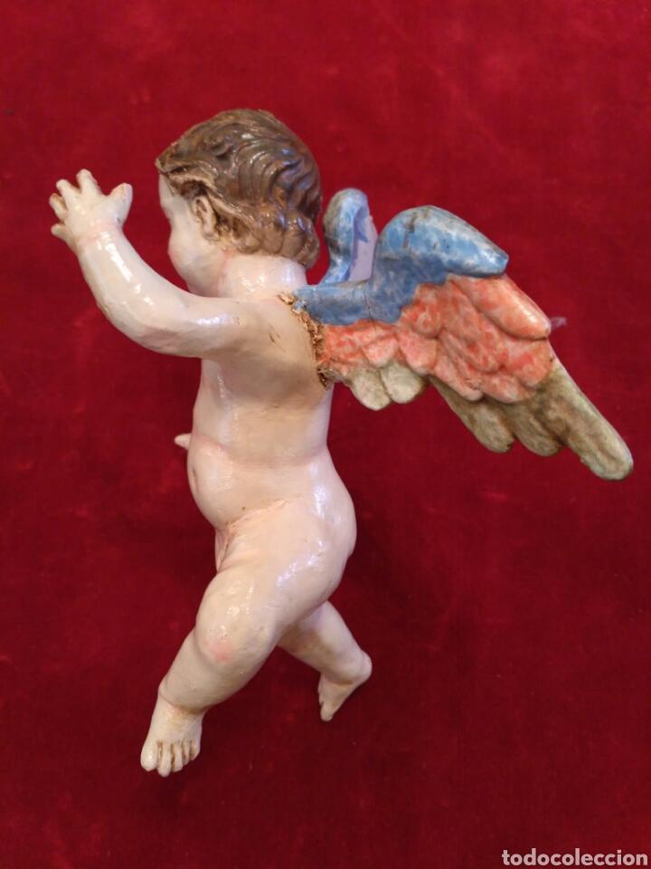 Artesanía: Ángel de barro pintado a mano (nuevo) - Foto 4 - 76489419