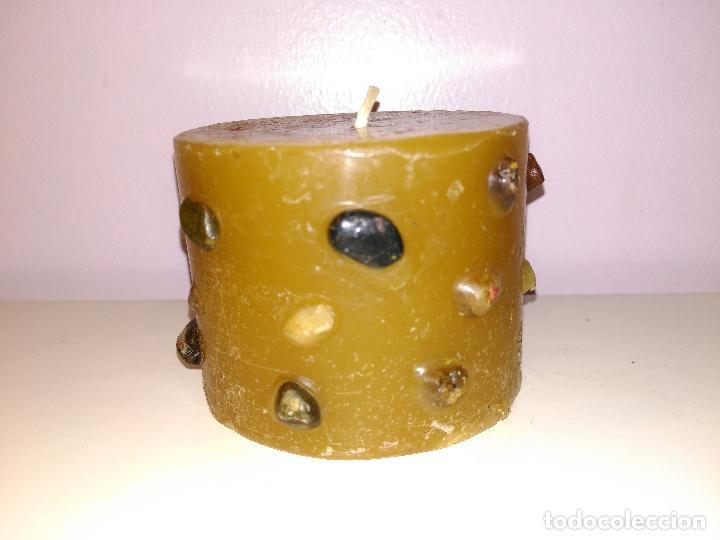 Artesanía: ANTIGUA Y ORIGINAL VELA. Con piedras incrustadas. - Foto 2 - 78439757