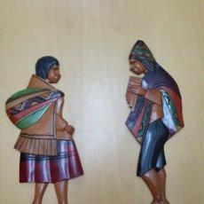 Artesanía: SOUVENIR DE BOLIVIANOS DE LA PAZ CON TRAJE TÍPICO. Lote 79772693