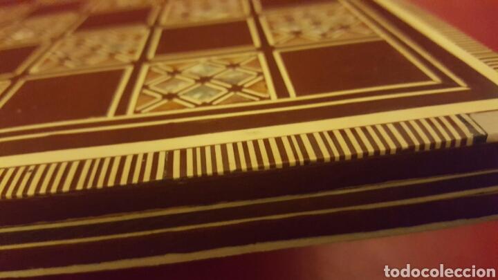Artesanía: DAMERO TABLERO AJEDREZ TARACEA MARQUETERÍA - Foto 2 - 82231951