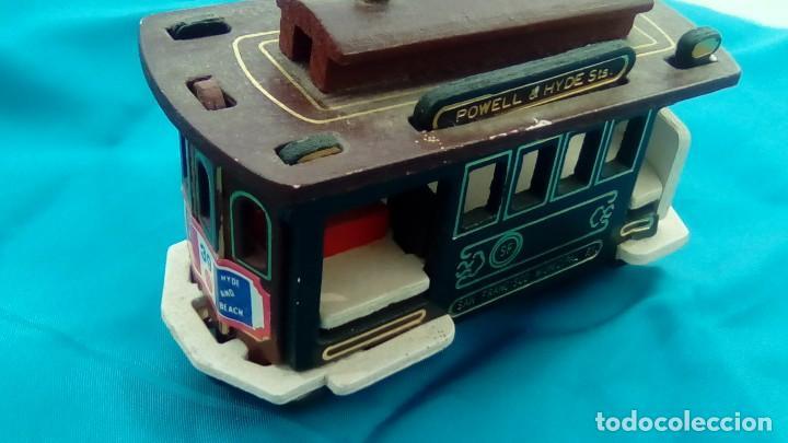 Artesanía: pequeño tranvia madera San Francisco - Foto 2 - 83372656