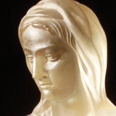Artesanía: SXIX BUSTO DE CRISTAL DE SAN LUIS FIRMADO MATER FRANCES CON MARCAS 21CM. Lote 84574632