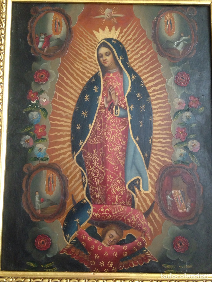 Artesanía: Virgen de Guadalupe, óleo sobre cobre - Foto 2 - 84586780