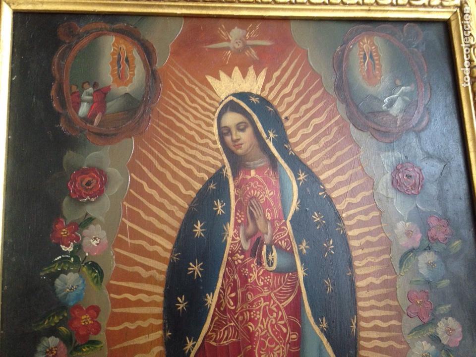 Artesanía: Virgen de Guadalupe, óleo sobre cobre - Foto 3 - 84586780