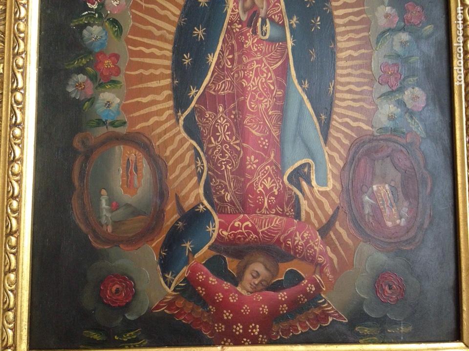 Artesanía: Virgen de Guadalupe, óleo sobre cobre - Foto 4 - 84586780