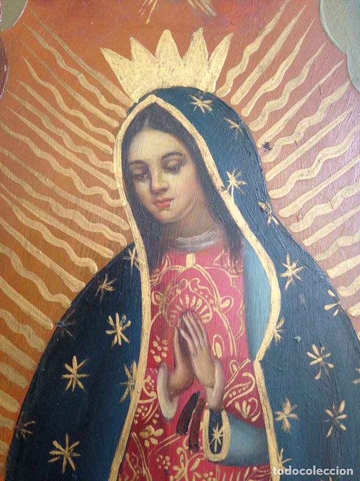 Artesanía: Virgen de Guadalupe, óleo sobre cobre - Foto 5 - 84586780