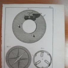 Artesanía: MAQUINARIA DE RELOJ I, 1780. DIDEROT/D ALEMBERT/PANCKOUCKE. Lote 84602040